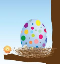 chick and egg vector image