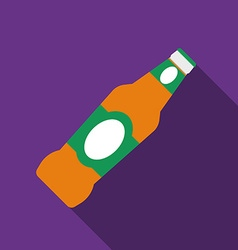 Flat design beer icon with long shadowFlat design vector image