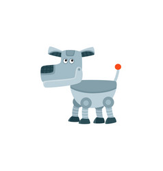 funny toy metal robot dog artificial intelligence vector image