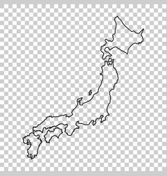 japan map in line style on isolated background vector image vector image