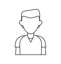 man staff hospital practice healthy outline vector image