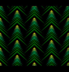 seamless pattern of abstract spruce on black backg vector image