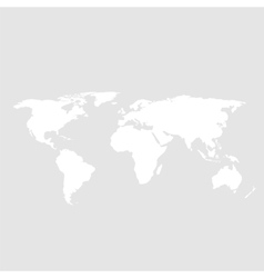 White world map on gray background vector image vector image