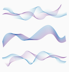 abstract two color waves vector image