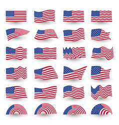 independence day flag set of united states vector image