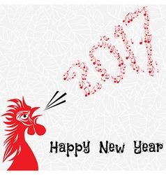 Rooster bird concept of Chinese New Year of the vector image vector image