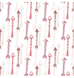 seamless background of vintage arrow hand drawn vector image