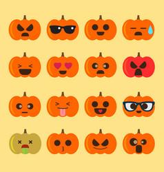emoji halloween pumpkin vector image