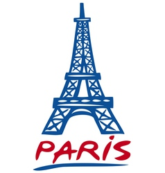 Paris Eiffel tower design vector image vector image