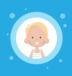 profile icon female avatar woman cartoon portrait vector image