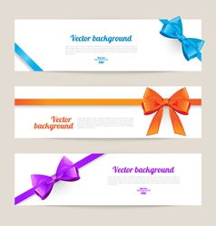 Set of card with gift bows vector image vector image
