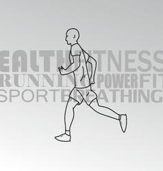Sport man running vector image