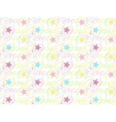 Summer seamless color pattern vector image