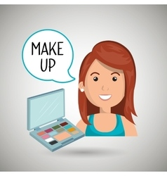 woman make up cosmetic vector image vector image