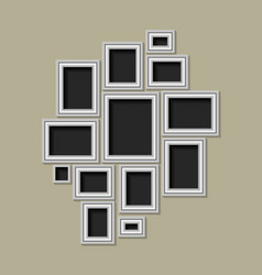 a set silver photo frames vector image