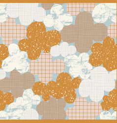 Abstract cloudscape vintage pattern vector