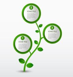 Abstract progress eco green template vector