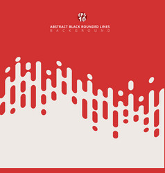 Abstract red rounded wave lines halftone vector