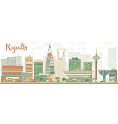 Abstract Riyadh skyline with Color buildings vector image