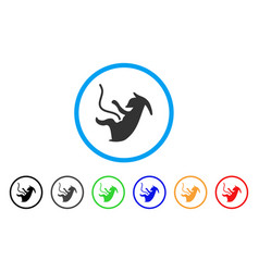 Alien embryo rounded icon vector