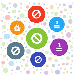 Allowed icons vector