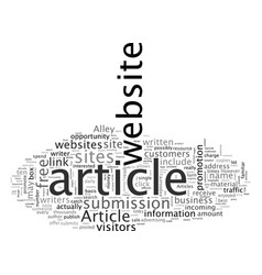 Article sites vector
