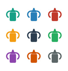 Baby bottle icon white background vector