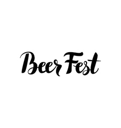 Beer fest calligraphy vector