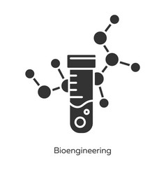 bioengineering glyph icons set biological vector image