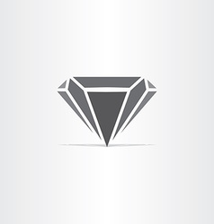 Black diamond stylized icon vector