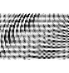 bw halftone circle background vector image