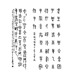 Chinese calligraphy for your design vector
