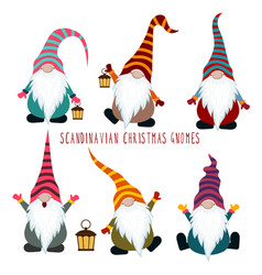 chrismas gnomes collection vector image