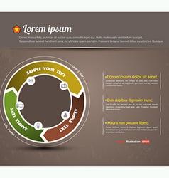 circle system graph vector image