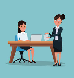 color background full body set of executive women vector image