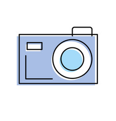 Digital camera to capture the nice moments vector