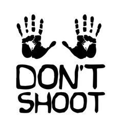 Dont shoot with palms black and white depicting vector