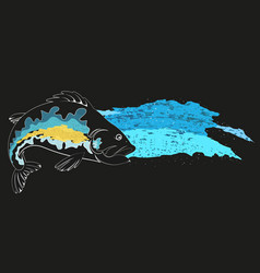 Fish and blue wave vector