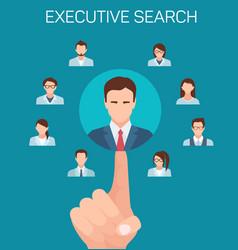flat banner executive search recruiting agencies vector image