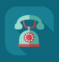 Flat modern design with shadow old phone vector
