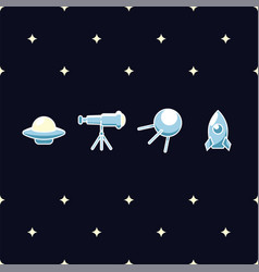 flying saucer astronomical telescope space vector image