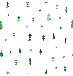 Forest christmas tree simple seamless pattern vector