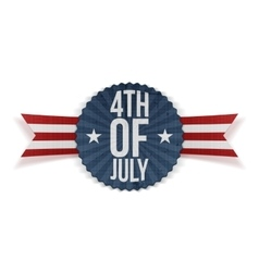 Fourth of July realistic Banner vector image