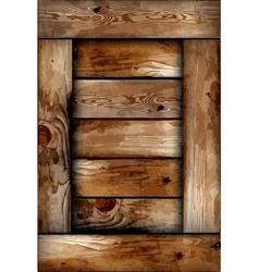 Fragile wooden box background vector image
