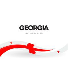 georgian national waving flag banner democratic vector image