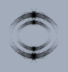 Grunge circle tire tracks vector