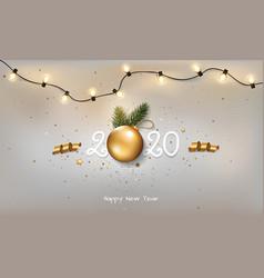 Happy new year 2020 vector