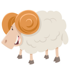 happy ram animal character vector image