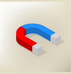 icon magnet isometric vector image