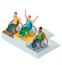 Isometric Olympic sports for peoples with disabled vector image